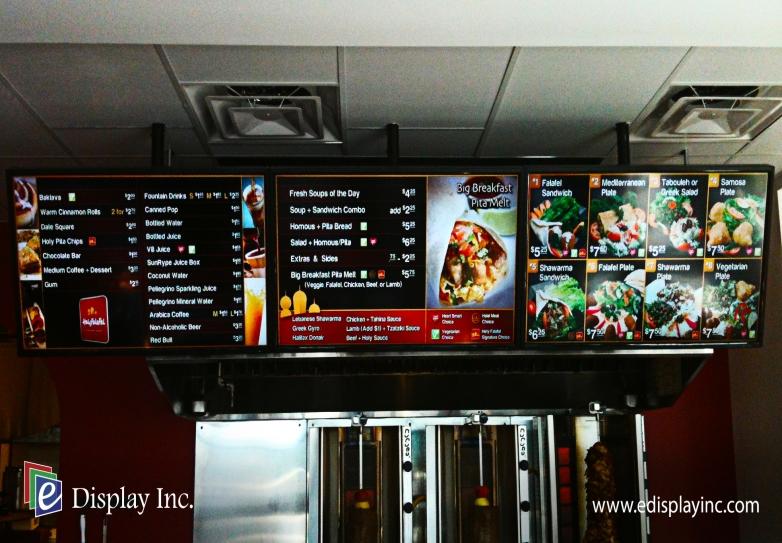 Holy Falafel Digital Menu Boards Android Digital Signage